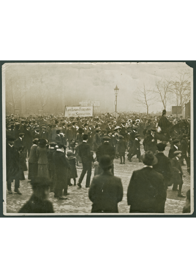 East London Federation of Suffragettes procession from Old Ford to Westminster Abbey